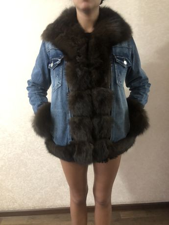 Натуральная куртка с мехом
