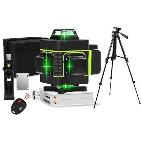 Лазерный уровень Hilda 4D 16 линий с дисплеем заряда ПУЛЬТ + ШТАТИВ