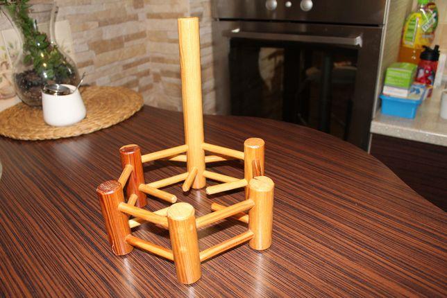 kwietnik ścienny drewniany