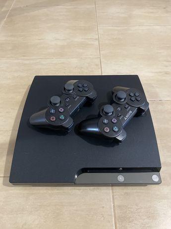Прошитая Sony Playstation  3 Slim 160gb 15игр+Gta 5+2 Джойстика