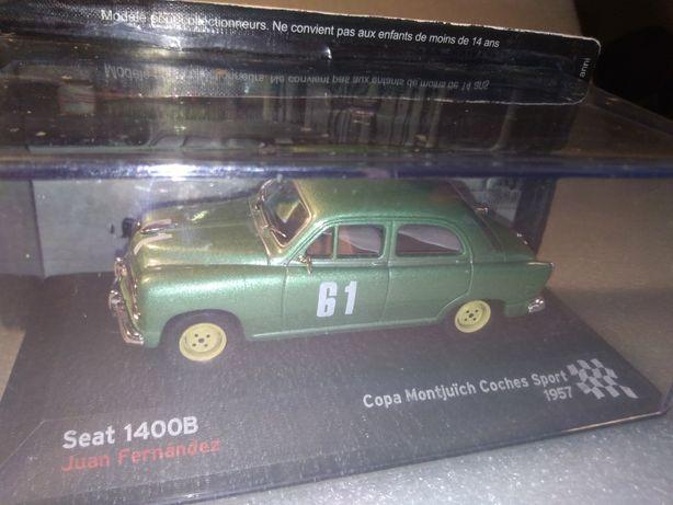 Carro antigo corrida miniatura Seat 1400B de 1957
