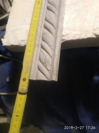 Dekor -ceramika 60cm x4,5 cm kolor szary matowy