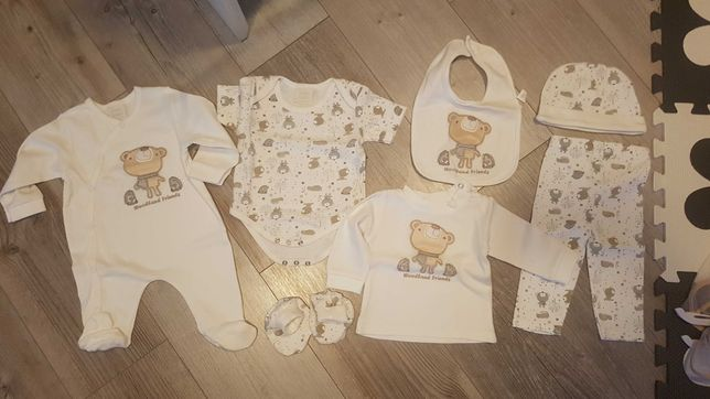Nowy komplet bebe bonito r. 62 body pajac spodnie bluzka czapka