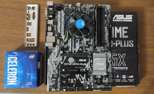 Материнская плата ASUS Prime Z270-Plus +Intel Celeron G3900 +ddr4 8gb