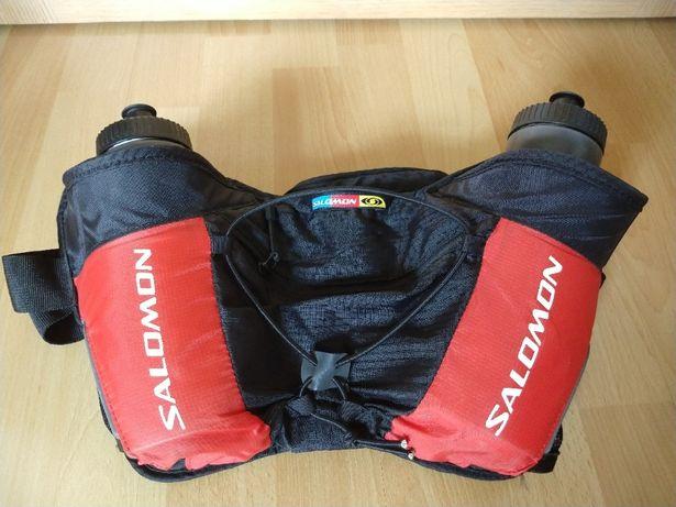 Pas biegowy Salomon Twin Belt 2x bidon Stan BDB