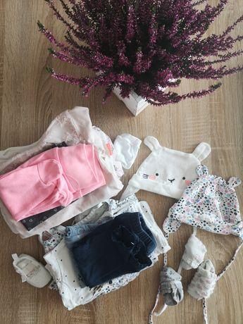 Paczka ubrań dla dziewczynki 62 wyprawka
