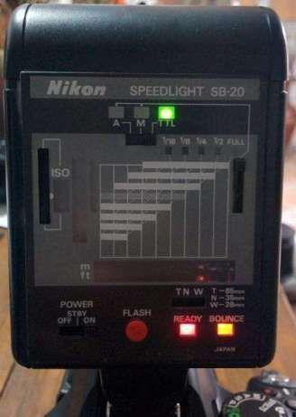 Nikon Flash Speedlight SB-20 TTL como novo - Oferta de Difusor