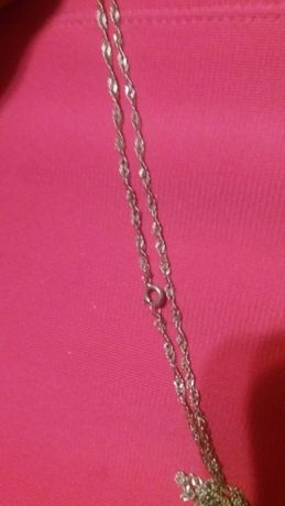 Łańcuszek srebrny zakrecony