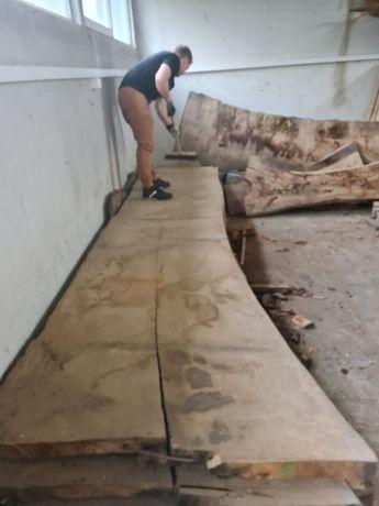 Blat drewniany suchy dębowy monolit z 1 kawałka dębu live edge wood