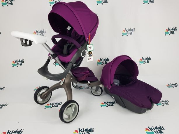 Нова Дитяча коляска візок dsland v4 2в1 та 3в1 фіолетова аналог stokk