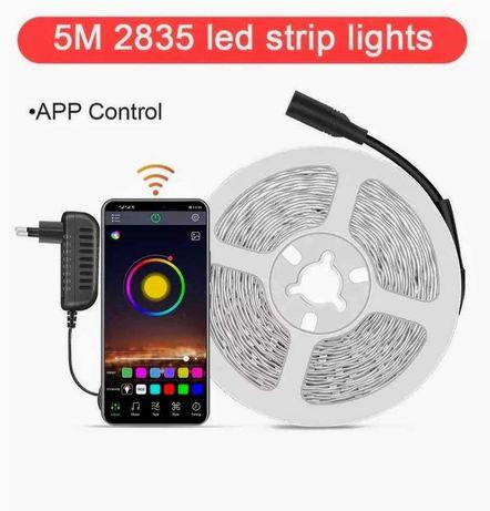 Zestaw oświetleniowy bluetooth 300 LED RGB taśma 5 metrów + 12v