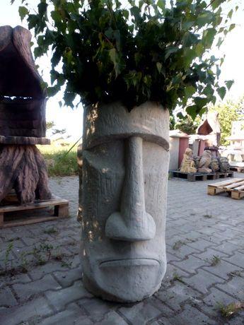 Grill ogrodowy betonowy Dekor Donica Maska Posąg z Wysp Wielkanocnych