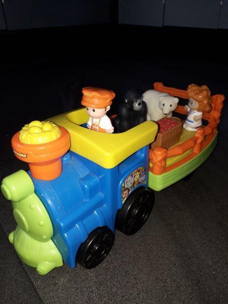 Fisher Price Little People pociag traktor lokomotywa