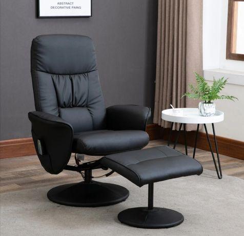 Fotel z masażem i grzaniem nowy