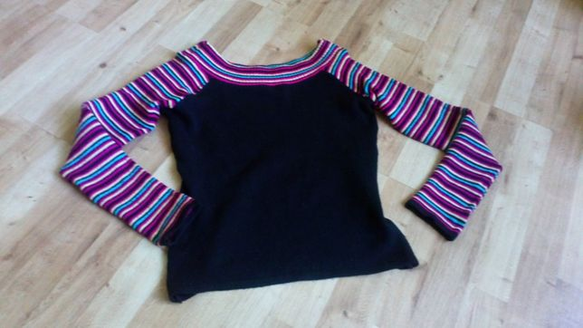 Sweter sweterek szer dekolt Orsay roz L
