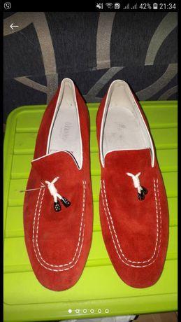Слипы, мокасины замшевые туфли