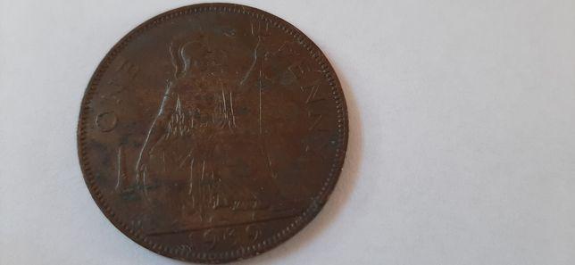 Moneta one penny 1939