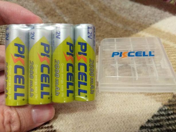 Аккумуляторы пальчиковые АА 2600 mah PKCell Ni-Mh 1.2v. 4 шт.