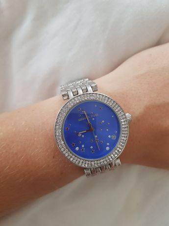 Zegarek ala Michael Kors niebieska tarcza
