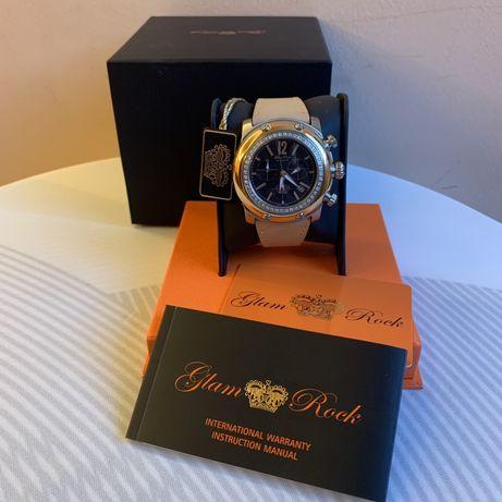 Гламурные часы Glam Rock Damen - Armbanduhr XL Chronograph Leder