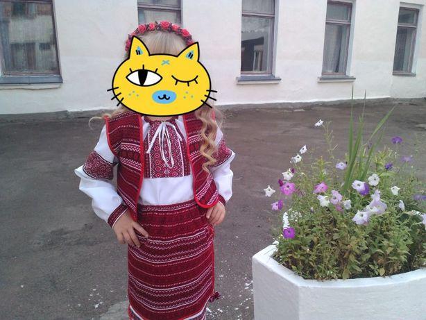 Украинский костюм тройка (блуза-жилет-юбка) для девочки