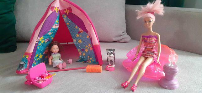BARBIE namiot, lalki barbie zestaw