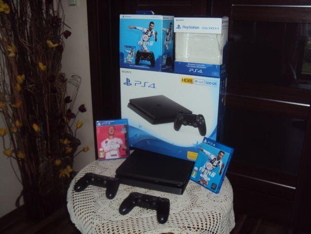 Konsola Sony PS4 HDR 500GB CUH-2216A Jet Black Ful zestaw...