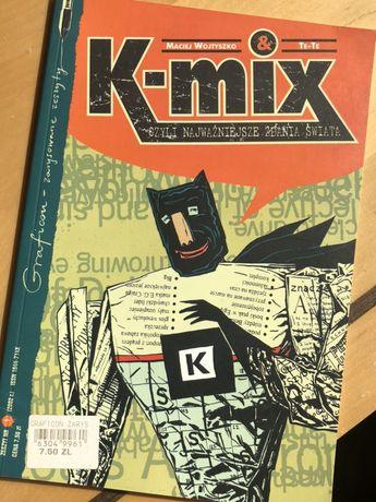 K-MIX maciej wojtyszko & te-te graficon zarysowane zeszyty komiks