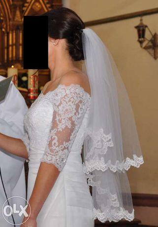 Prześliczna i delikatna suknia ślubna Gala Zasta + dodatki