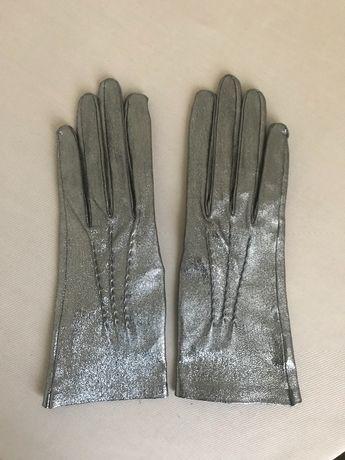 Перчатки новые, кожа на тканевой основе. Размер 7 и 6.5.
