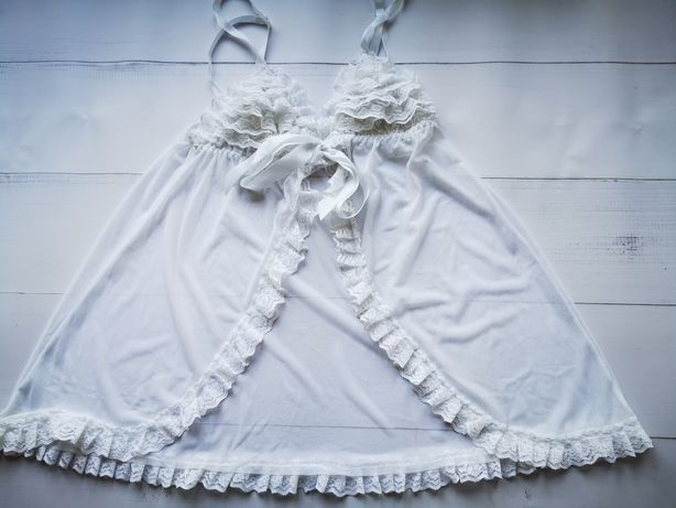 Obssesive /koszulka zapinana /bielizna nocna/noc poślubna /koronka,S/M