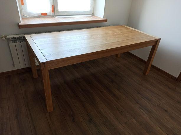 Stół drewniany jesion duży lite drewno salon jadalnia