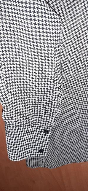 Шифоновая блузка Zara S рубашка,гусиная лапка