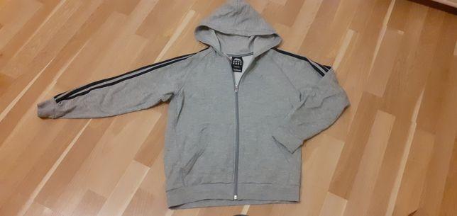 Bluza chlopieca z kapturem Adidas bawełniana