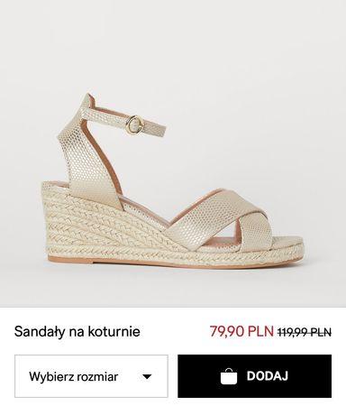 Sandały H&M 40 złote