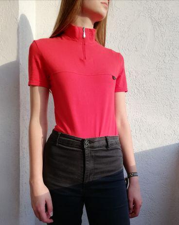 Czerwona koszulka damska M