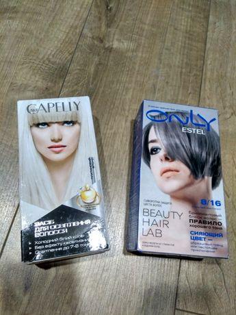 Стойкая краска-гель для волос Estel only 8/16 + осветлитель art CAPELL