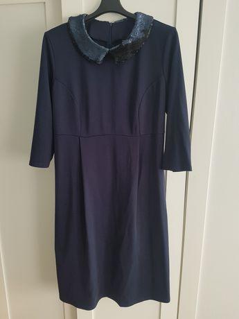 Sukienka ciążowa L branco elegancka święta