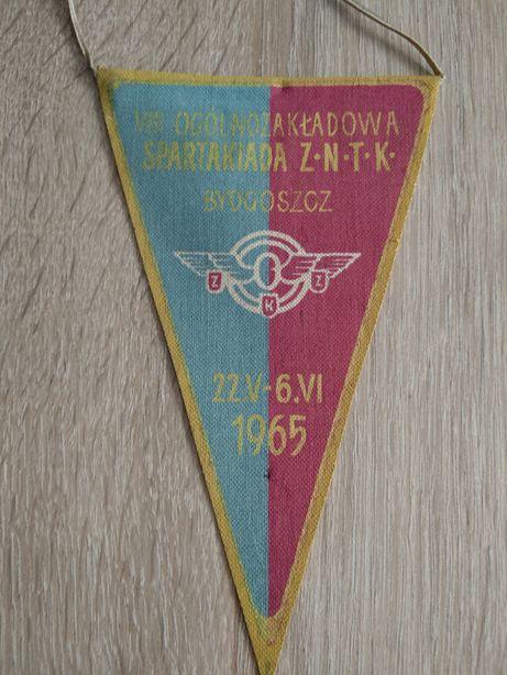 Proporczyk VIII Spartakiady ZNTK w Bydgoszcz 1965 PRL