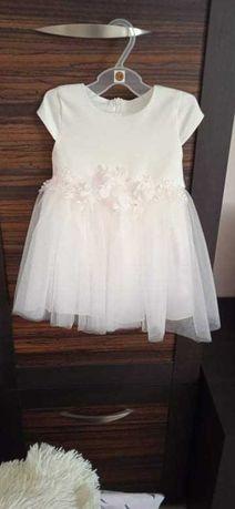 Sukieneczka do chrztu dla dziewczynki rozmiar 74