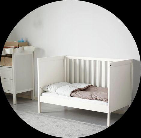 Łóżeczko dla starszego dziecka Ikea Sundvik 60×120