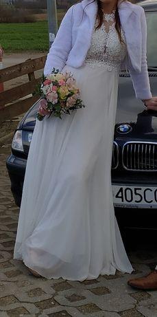 Sukienka Biała Ślub Wesele 36