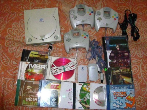 Приставка, консоль Sega Dreamcast, игры, джойстик