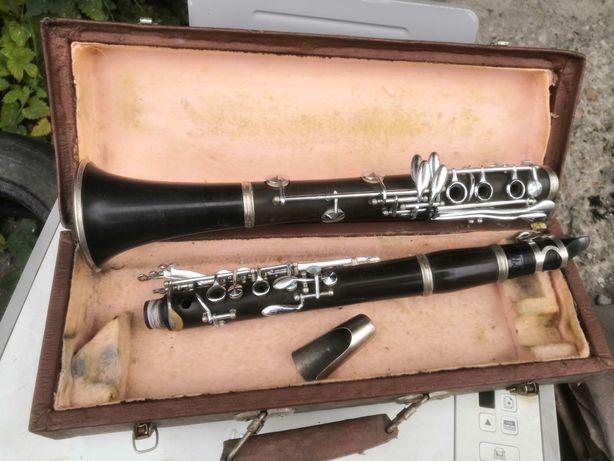 Раритетный духовой инструмент кларнет хорошее состояние