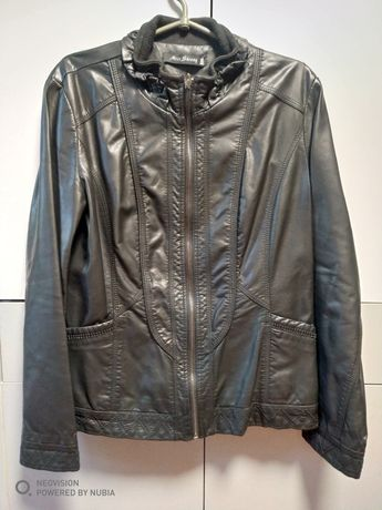 Женская кожзам куртка 48 размер
