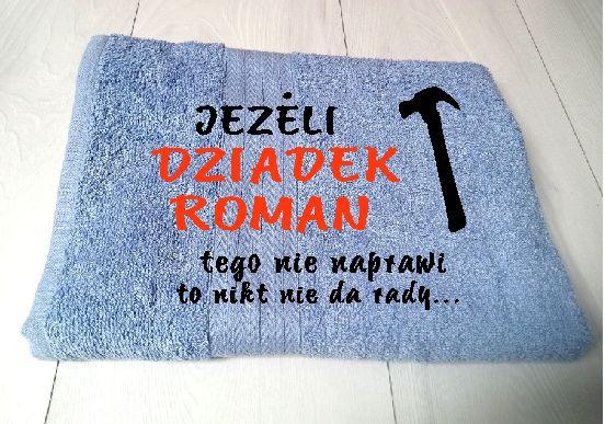 Ręczniki z haftem PERSONALIZACJA DZIEŃ BABCI I dziadka