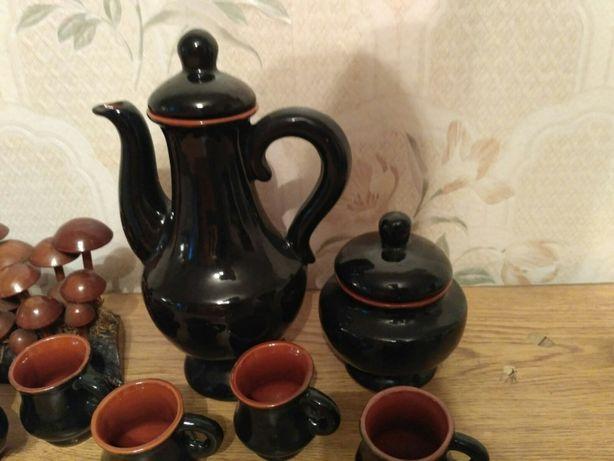 Продається посуд. Глиняний кавовий сервіз