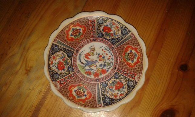 Prato de porcelana chinesa