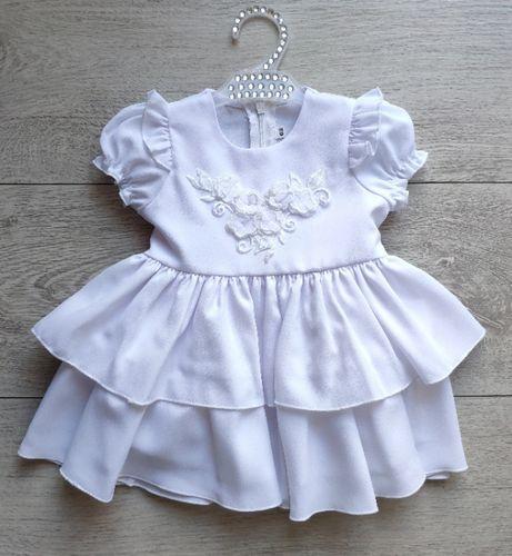 Nowa sukienka chrzest, wesele, uroczystość 62,68,74 Błasiak biała