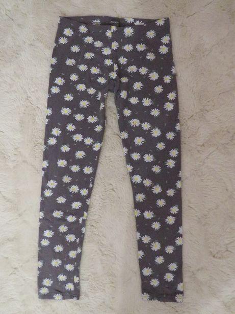 Getry dla dziewczynki na 146 cm legginsy w margaretki Primark